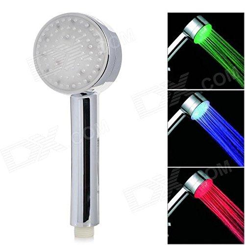 VDOMUS® 7 Color LED Lights Shower Head Bathroom Showerheads-Rainbow LED Lights Cycle Every 2 Seconds