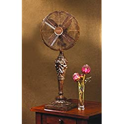 DecoBREEZE Oscillating Table Fan 3 Speed Air Circulator Fan, 12 In, Cantalonia