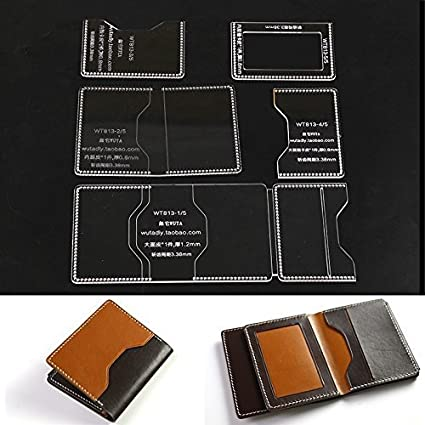 amazon com wuta casual wallet pattern with card slots diy trifold