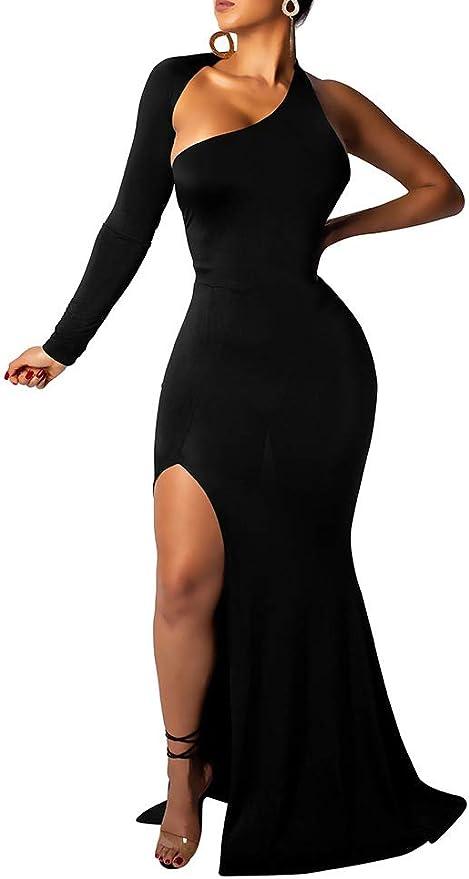 One Shoulder Dress Marilyn Gown Full Length Dress Dress For Women Backless Dress MD0141 One Shoulder Fancy Dress Women Dress