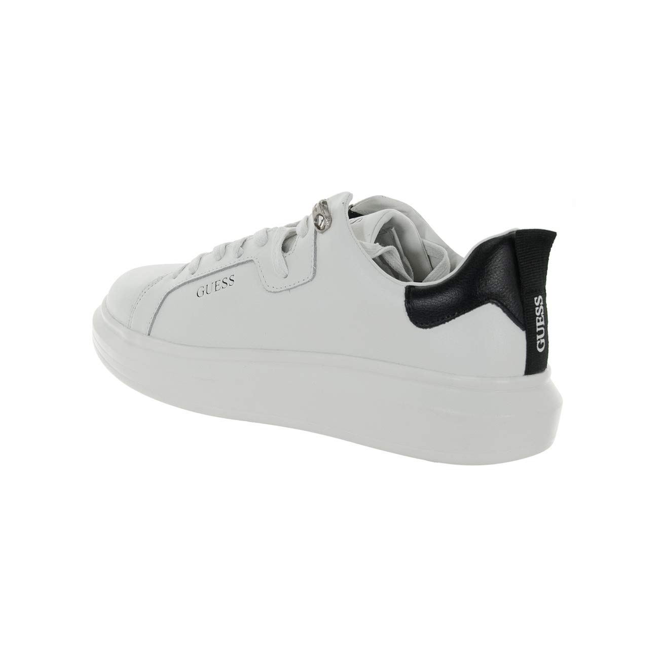 Guess Scarpe Uomo Sneaker Kurt Logo in Pelle White