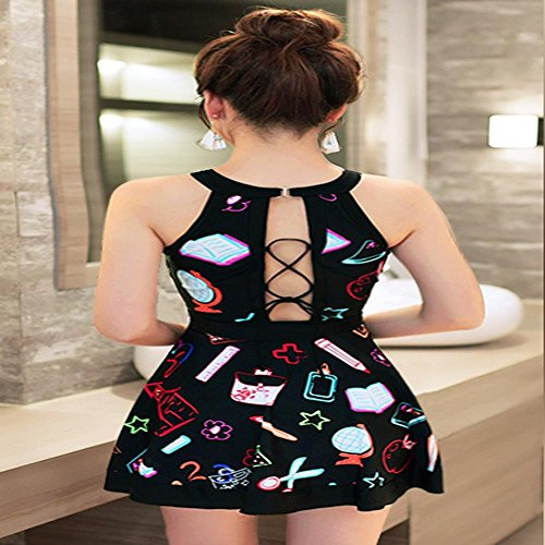HTWWJ Swimwear Mujer 's Una pieza vestido , 2xl recommended weight 120-130 pounds