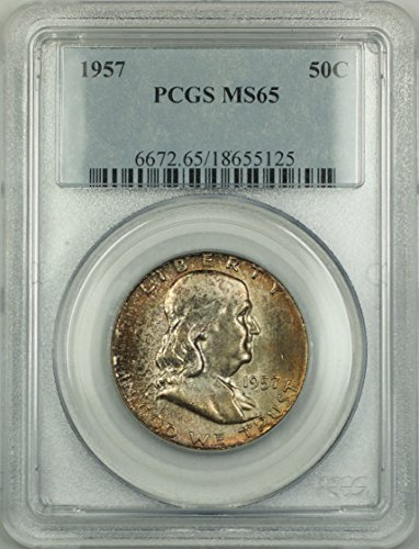 1957 No Mint Mark Franklin Half Dollar Half Dollar PCGS MS-65