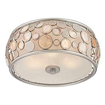 style selections quoizel fairgate silver standard flush mount light ceiling fixture 14in w