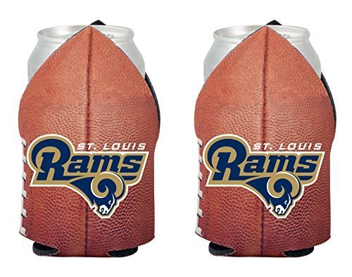 (NFL 2014 Team Logo Football Look Can Coolie Holder Koozie Cooler 2-Pack (St Louis Rams))