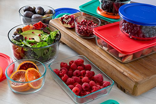 Pyrex Simply Store Glass Rectangular and Round Food Container Set (18-Piece, BPA-free) by Pyrex (Image #2)