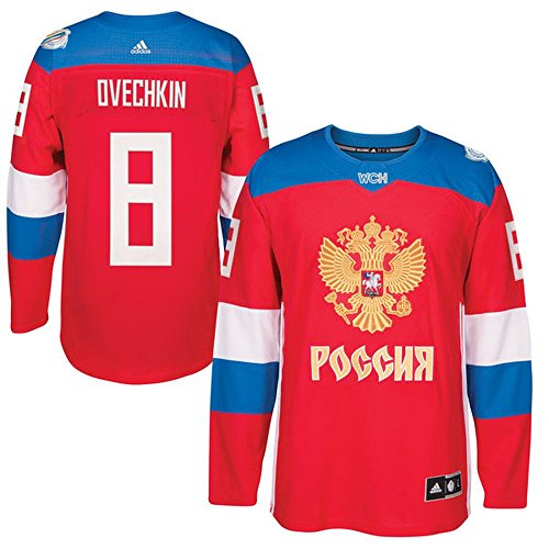 World Cup of Hockey 2016 Alexander Ovechkin Russia Red Premier Player Jersey (X-Large)
