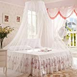 Generic White : 1Pc Elegant Round Lace Insect Bed Canopy Netting Curtain Dome Mosquito Net Worldwide
