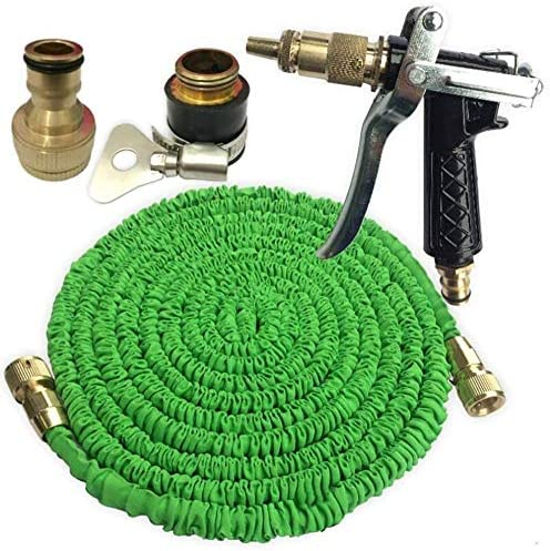 Expandable hose Watering the lawn Hose Pipe Expandable Hose Suitable For Garden Irrigation(blue/green) Multiple Sizes (Color : Green, Size : 50inch)