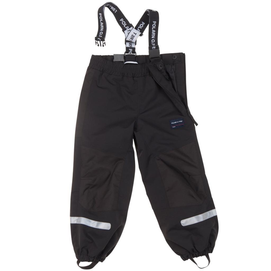 Polarn O. Pyret Waterproof Suspender Shell Pants (2-6YRS) - 4-5 Years/Meteorite