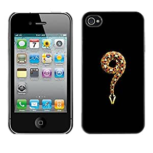 FlareStar Colour Printing Meaning Evil Religion Adam Eve God Snake cáscara Funda Case Caso de plástico para Apple iPhone 4 / iPhone 4S / 4S