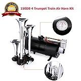 Best Compressor Kit For Air Horns - Voluker 4 Trumpet Train Air Horn Kit,150dB Loud Review