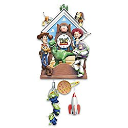 he Bradford Exchange Disney Pixar Toy Story Hand-Painted Sculptural Cuckoo Clock Plays Music