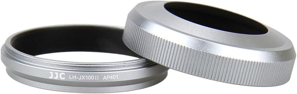JJC Silver Lens Hood for Fuji Fujifilm Finepix X100F, X100T, X100S, X100 Digital Camera, Replaces Fujifilm LH-X100 Lens Hood