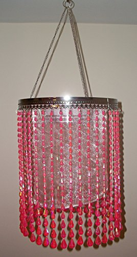 Shimmer Chandelier Raindrops Coral Anywhere Lighting