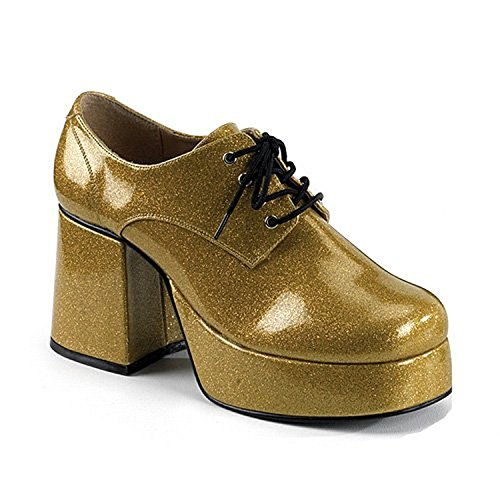 Funtasma JAZZ-02G mens Pearlized Gold Glitter Oxfords Shoes Size - S for $<!--$61.95-->