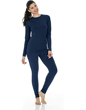 12730549f2a86 Women's Ultra Soft Thermal Underwear Long Johns Set with Fleece Lined