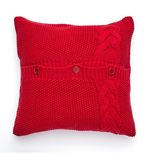 Amazon.com: New Haven Cable de algodón de punto de almohada ...
