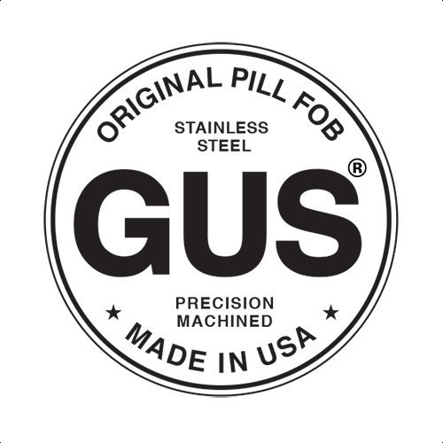 GUS Mini Pill Fob, Made in USA, Stainless Steel Keychain Pill Holder, Emergency Aspirin Holder, Compact Design by GUS Made (Image #4)