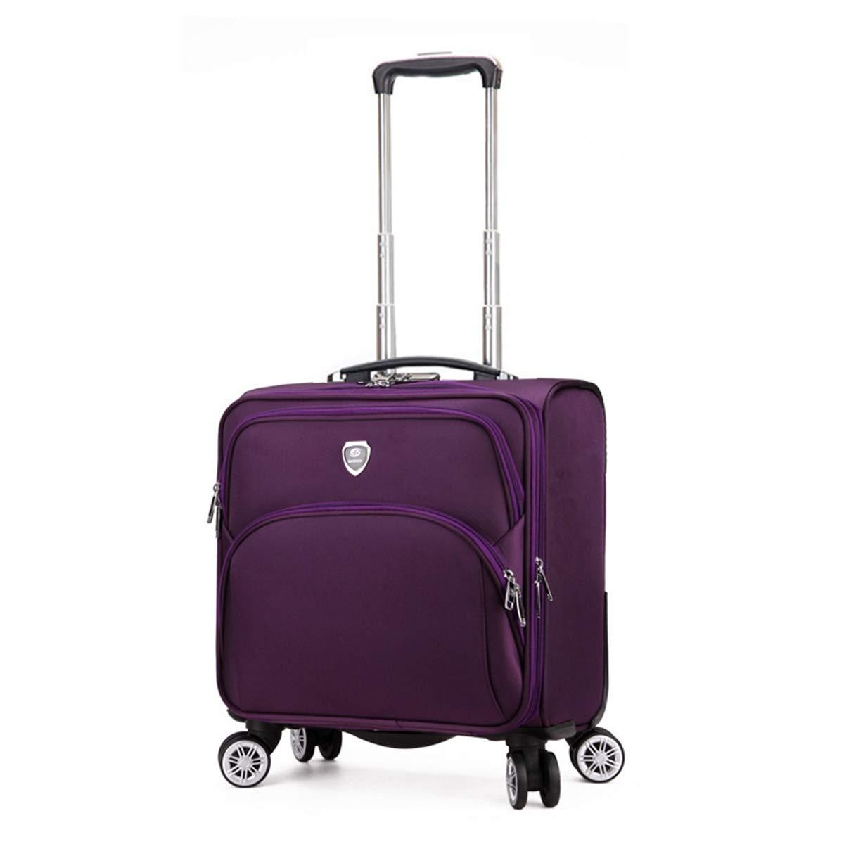 トロリーケース、ファッションカジュアルビジネススーツケースキャリーオン搭乗荷物とホイール&デジタルコードロック,purple purple  B07R9X6DFB