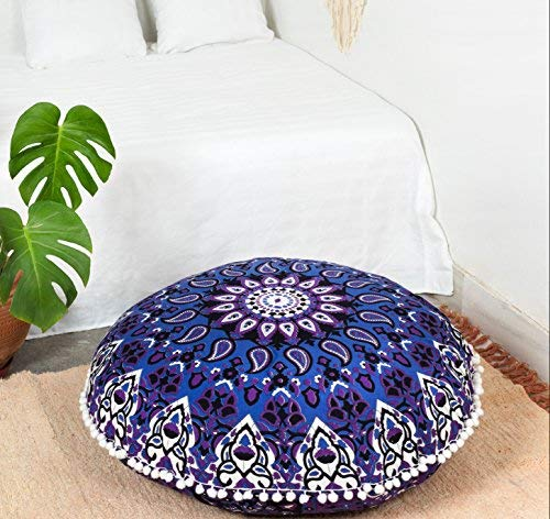 Hemsi-77 Mandala Art Bohemio Yoga Decor Floor Cushion Cover ...