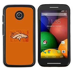 Qstar Arte & diseño plástico duro Fundas Cover Cubre Hard Case Cover para Motorola Moto E (Flaming Horse)