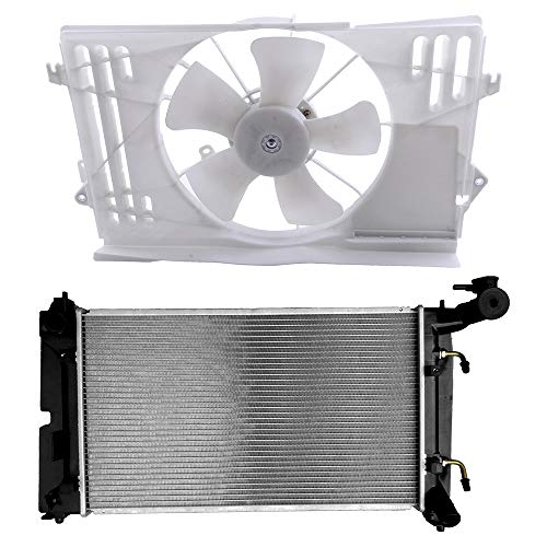 (ECCPP Radiator Cooling Fan Assembly Replacement fit for 2003-2008 Pontiac Vibe Toyota Corolla/Matrix)