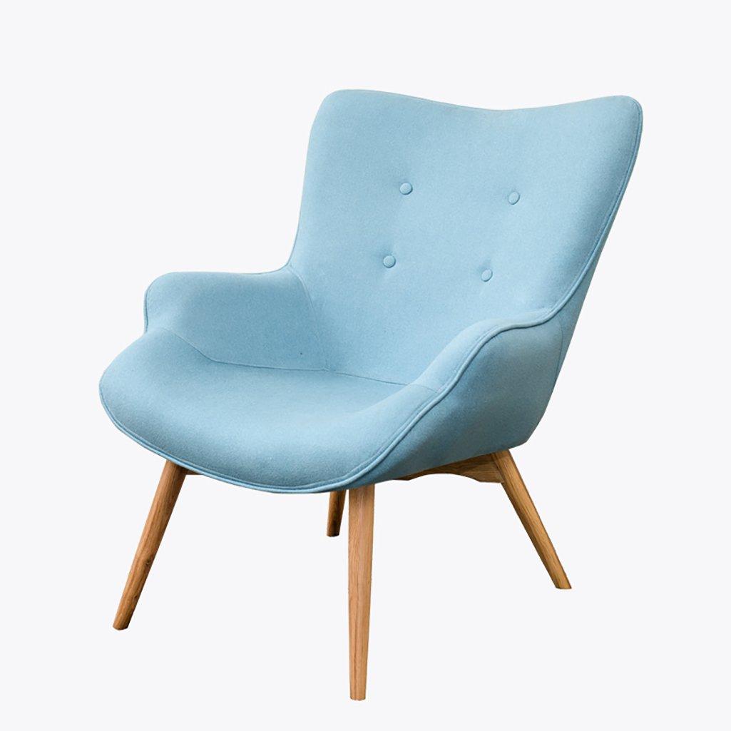 CaoyuPiccolo Sgabello Sofa Chair Modern Simple Small Tessuto Leisure Tiger Chair Camera Balcony Single Small Sofa (colore   F.)