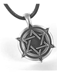 Star of David Shield, Special Jewish Necklace, Including a Free Black Choker, By Bico