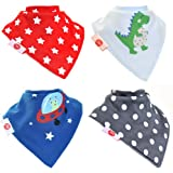 Amazon.com: Zippy Fun Baby and Toddler Bandana Bib - Absorbent 100 ...
