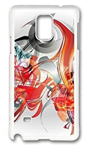 Adorable Illustration abstract graphics Hard Case Protective Shell Cell Phone For Case Iphone 4/4S Cover - PC White