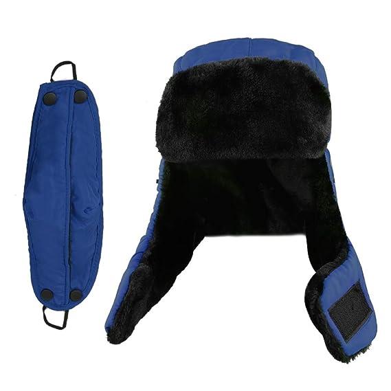 XIAOYAO Cappello Aviatore Impermeabile Anti-Vento Caldo Berretti Invernali  para Uomo e Donna (Marina)  Amazon.it  Abbigliamento c335704ec192