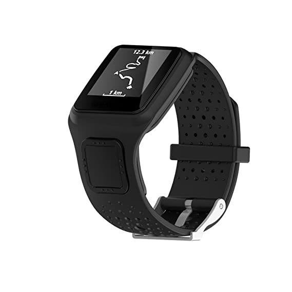 MYQyiyi Correa de Silicona de Reloj Reemplazo para TomTom Runner Cardio Sport GPS Watch: Amazon.es: Relojes