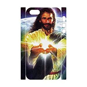 3D Bumper Plastic Customized Case Of Jesus for iPhone 5,5S wangjiang maoyi