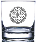 IE Laserware Irish Celtic Shield Knot 12.5 oz Whiskey Scotch Old Fashion Laser Etched Glass