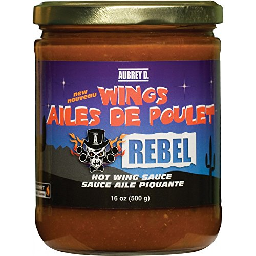 Aubrey D. Rebel Hot Wing Sauce, 16 oz (2 Pack)