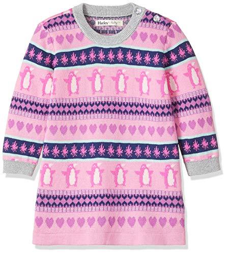 Hatley Baby Girls Sweater Dress, fair isle Penguin 3-6 - Sweater Dress Isle Fair