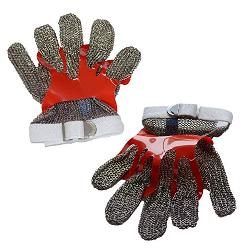 ZHANGZHIYUA Anself Cut Resistant Glove Stainless Steel Mesh Knife Cut Resistant Protective Glove by ZHANGZHIYUA (Image #6)