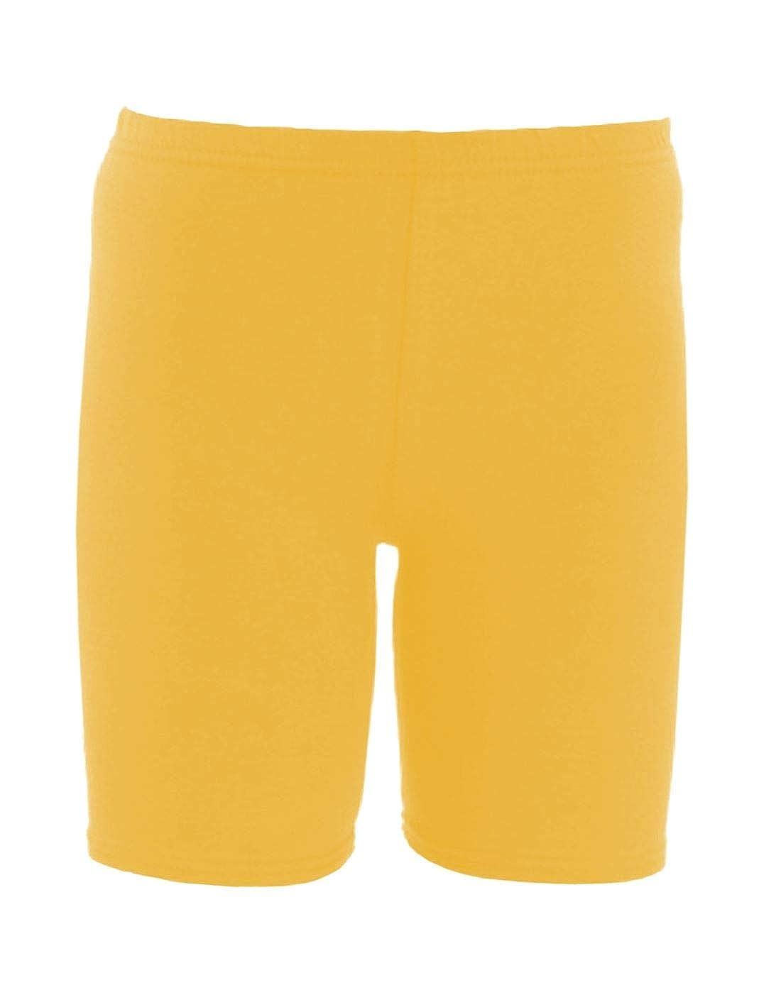 janisramone Girls Kids New Plain Stretchy Dance Gymnastics Sports PE School Game Summer Cycling Shorts Pants