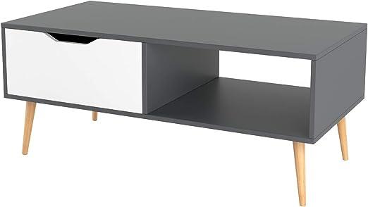 Homfa Mesa de Centro Mesa de café Mesa para TV Mesa para salón con ...
