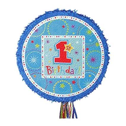 Amazon.com: Boys 1er Cumpleaños Tire Cadena Piñata: Toys & Games