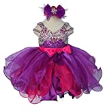 Jenniferwu Infant toddler baby newborn little Girl's Pageant party birthday Dress CGG266-1 SIZE 2T