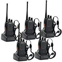 Elephant XuBaofeng BF-888S Rechargeable Long Range Walkie Talkie Two Way Radio (5 Pack)