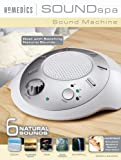 HoMedics SS2000G3PK-CA Sound Spa Relaxation Sound Machine with 6 Nature Sounds, Silver