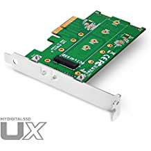 MyDigitalSSD UX Universal M.2 PCIe NVMe SSD to PCI Express 3.0 x4 Adapter Card with 80mm (2280) 60mm (2260) 42mm (2242) 30mm (2230) Support - MDNVMEM2-UX-ADPT (0GB)