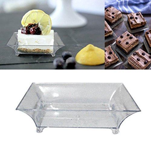 "Десертная тарелка 2.5"" Mini Clear Plastic"