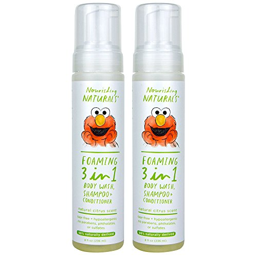 Sesame Street Nourishing Naturals, 3-in-1 Shampoo Conditioner & Body Wash, 8 oz, Pack of 2 by Sesame Street