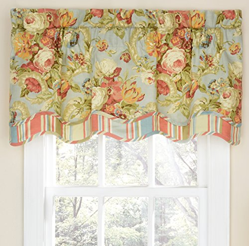 Waverly Spring Bling Window Valance, 18x52, Vapor - Waverly Spring