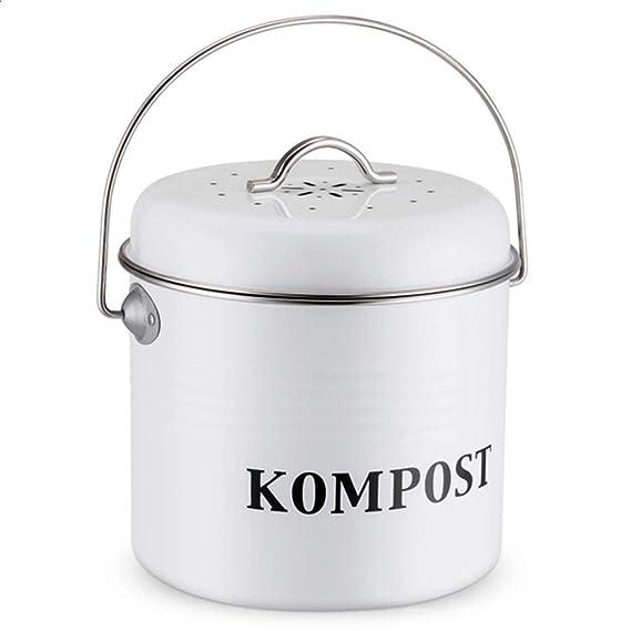El Contenedor de Compost de 5L, Cubo de Cocina Vintage con ...