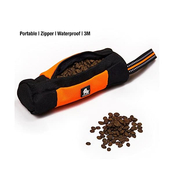Raffaelo Dog Treat Bag Dog Training Bag Pouch Dog Food Storage for Puppy Dog Training and Outdoors Activities – (Orange… Click on image for further info. 3